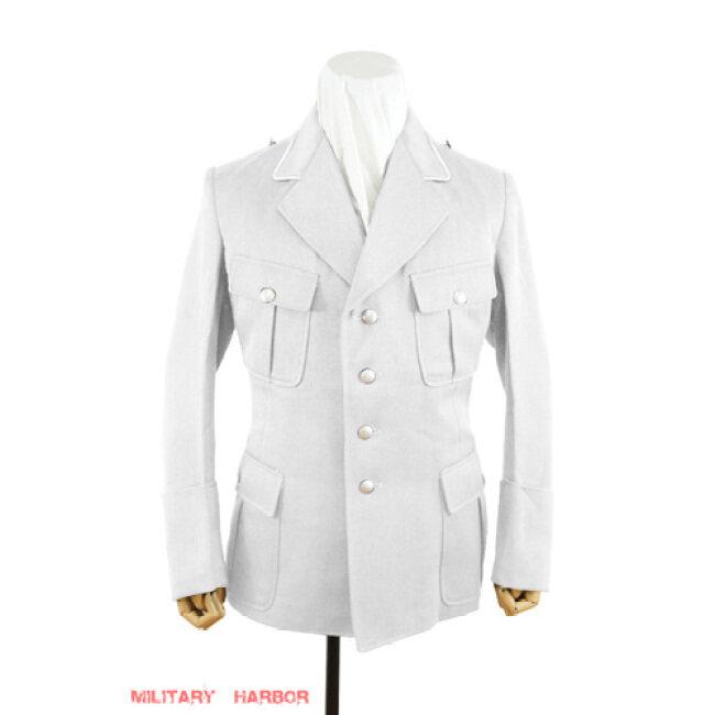 WWII German Luftwaffe M35 Officer white cotton Jacket tunic