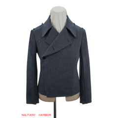 WWII German Luftwaffe blue grey wool panzer wrap jacket