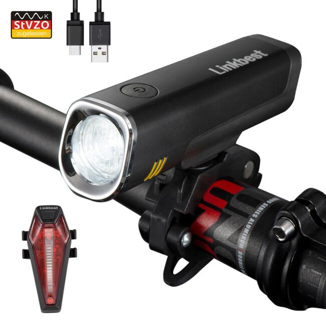 40 Lux USB Bike Light Set StVZO Approved