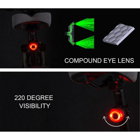 LED Bike Tail Light USB rechageable