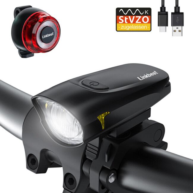 40 Lux USB Bike Light Set
