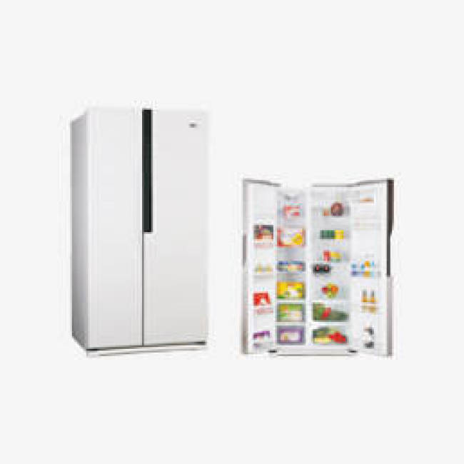 580L Air Cooling No Frost Side by Side White Refrigerator