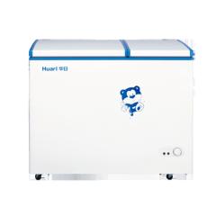193L Metal Manual Defrost Double Doors White Chest Freezer