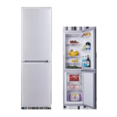 160L AC Electrocity Chromium Plating Handle Silver Refrigerator