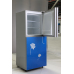 200L Direct Cooling Frameless Glass Panel Colorful Refrigerator