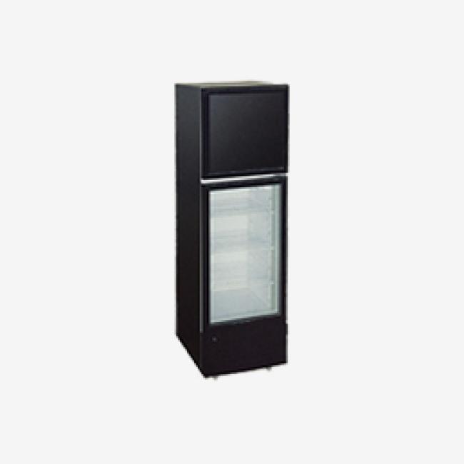 318L Top Freezer and Bottom Fridge Glass Door Vertical Showcase