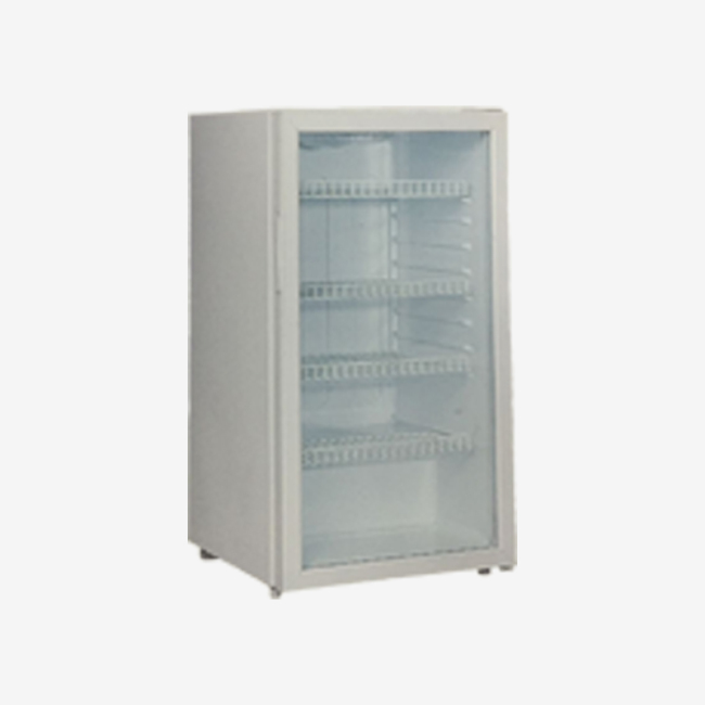 110L Glass Door Mini Anti-Frost Showcase with Light and Lock