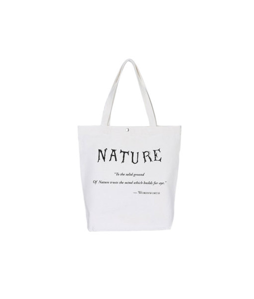 Economy Natural Cotton Button Closure Tote