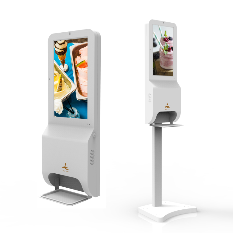 digital signage automatic hand sanitizer dispenser