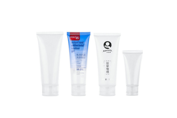 Cheap and fast PE plastic hand wash tube packaging, Transparent Hand sanitizer tube