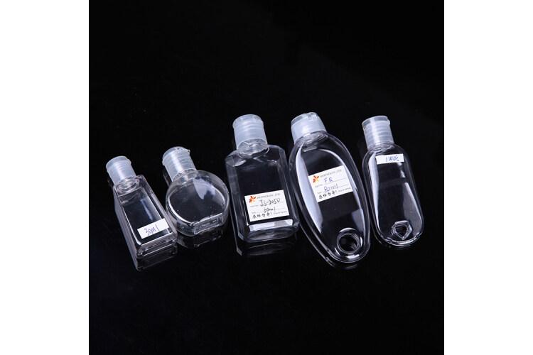 30ml 60ml 80ml hand gel packaging bottle, oval shape hand wash bottle