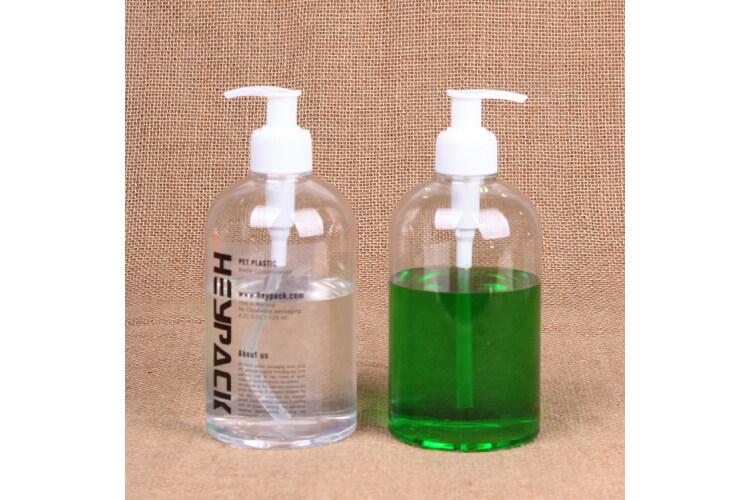 Stock fast delivery clear pump dispenser PET plastic hand sanitizer spray bottle 500ml