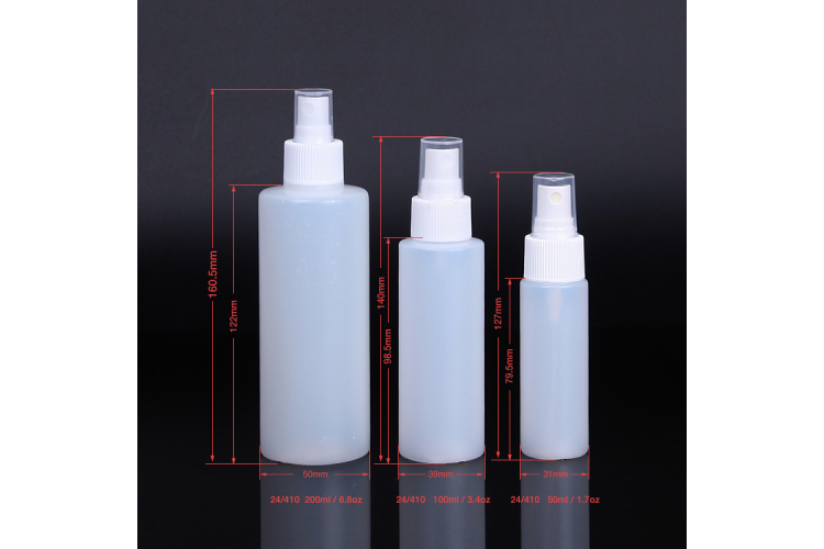 STOCK HDPE Plastic 50ml 200ml 100ml Spray Bottle for Disinfectant Liquid