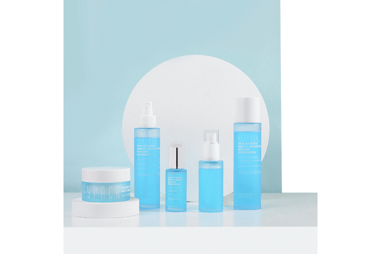 New Eco-friendly PET Material Natural Skin Care Bottle Packaging Set