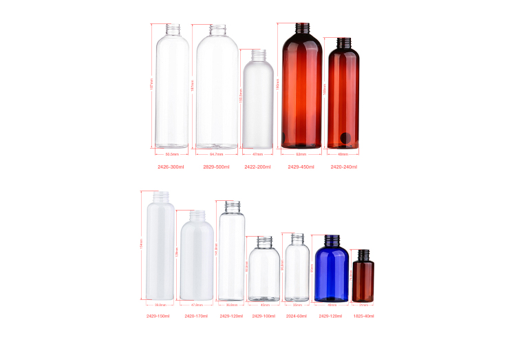 Fast Delivery 40ml 60ml 100ml 120ml 150ml 200ml 240ml 300ml 450ml 500ml PET plastic bottle