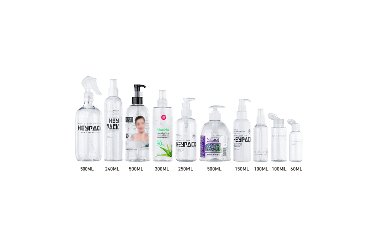 Several shape different closure 60ml 100ml 150ml 200ml 250ml 500ml PET plastic bottle