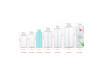 100K Stock transparent bottle white top PET plastic disinfectant 100ml spray bottle