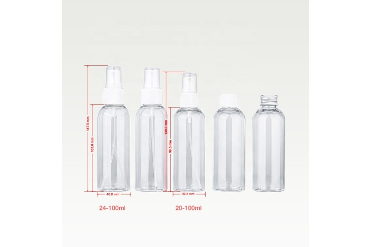 5-10 Days Transparent Round PET plastic 100m Spray Bottle Manufacturer