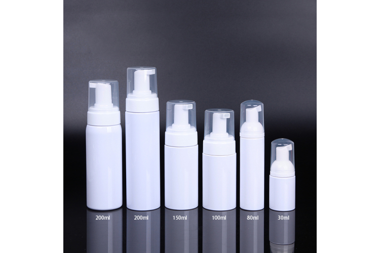 30ml 60ml 80ml 100ml 150ml 200ml face cleanser white foam pump bottle
