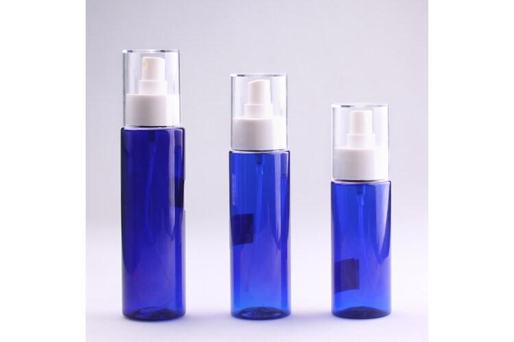Wholesale PET Plastic Bottle,Blue Mist Spray Bottle Packaging
