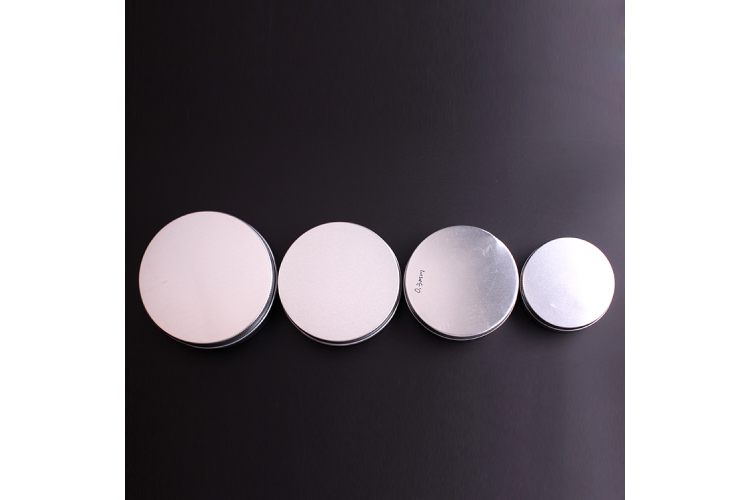 Empty Cosmetic Aluminum Jar,Sliver Aluminum Jars Packaging