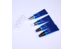 Blue Plastic Cosmetic Tube for Face Cream Use with Pump Head