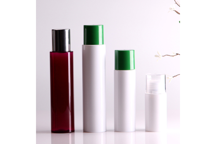 cosmetic usage double screw cap PET bottle