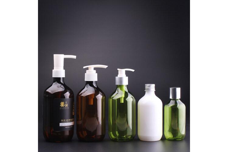 Round shoulder PET shampoo packaging bottle