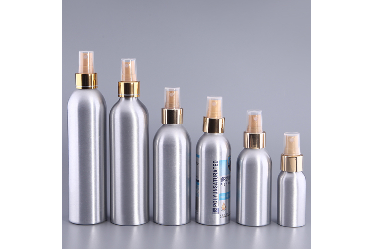 100ml 150ml 200ml 300ml Pump Head Cosmetic Aluminum Bottle