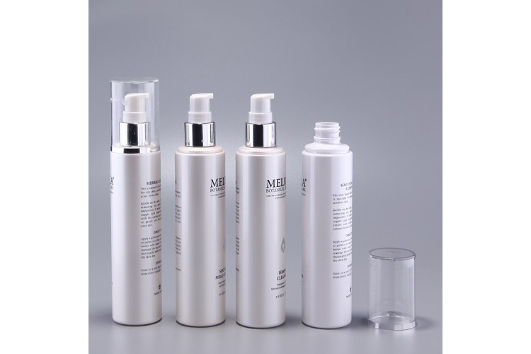 Full cover cosmetic serum pump bottle