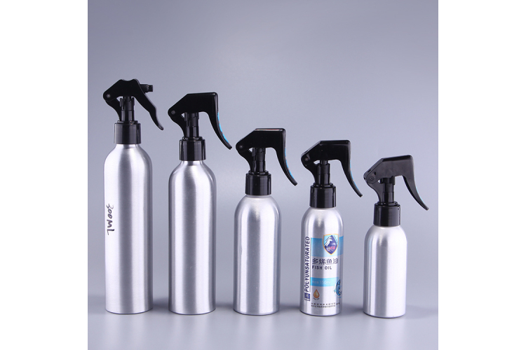 Aluminum packaging bottle with Trigger sprayer