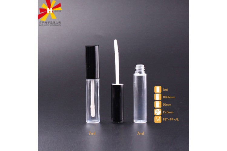 7ml injecting PET lip gloss tube
