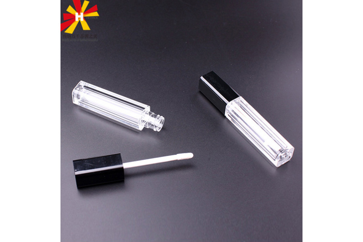 AS plastic material Square shape lip gloss tube