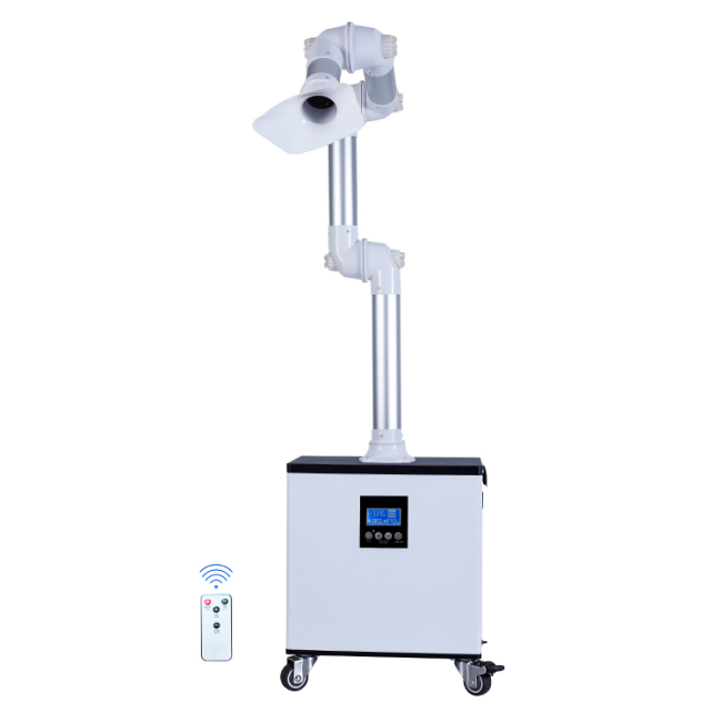 Droplets Odors and Aerosols External Oral Suction Unit with UV and Plasma Disinfection
