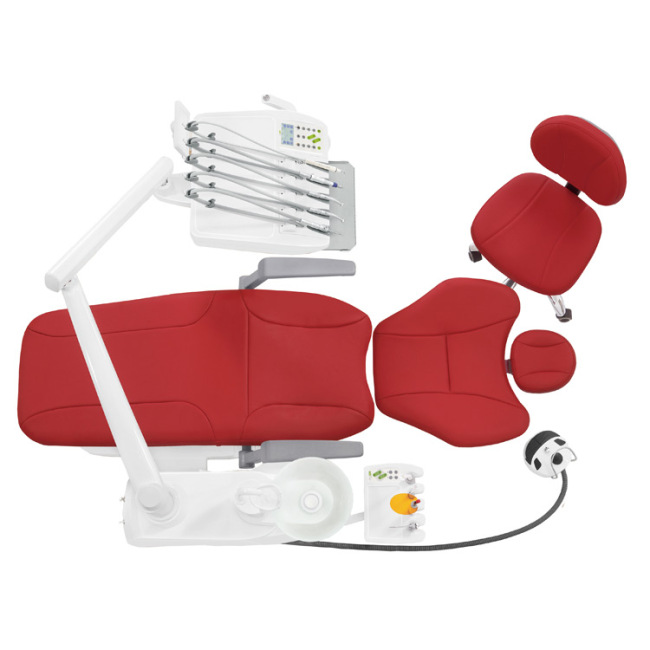 Microfiber Leather High Configuration Dental Chair Equipment