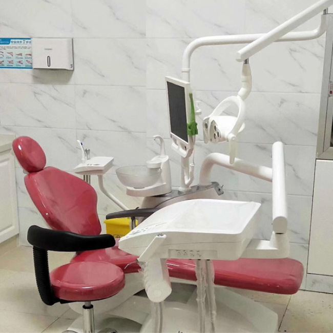 Cheap Dental Chair Price for Pu Leather Dental Unit with Long Arms