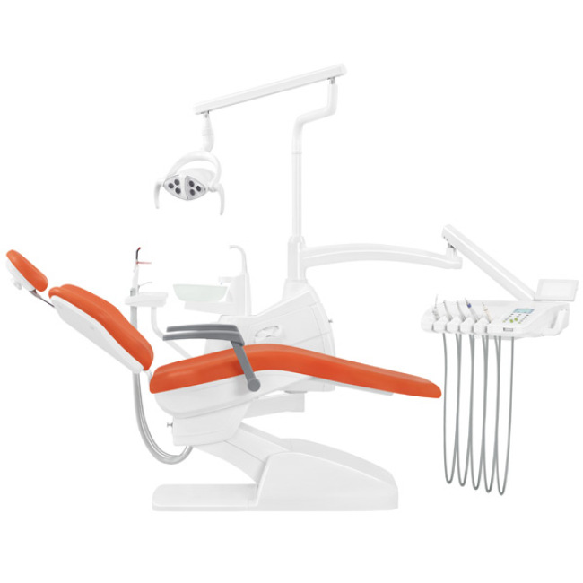 Fashionable Floor Type Mainly Orange Dental Unit for Sale