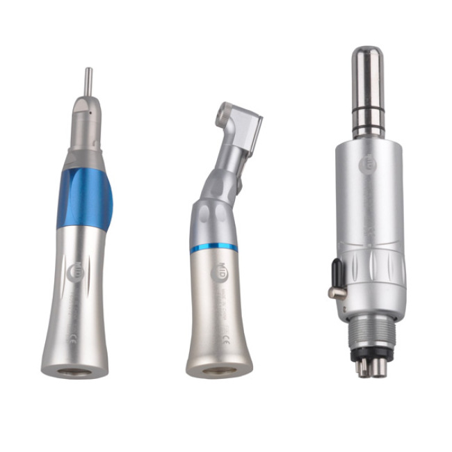 Contra Angle Air Motor Straight Low Speed Dental Handpiece Set