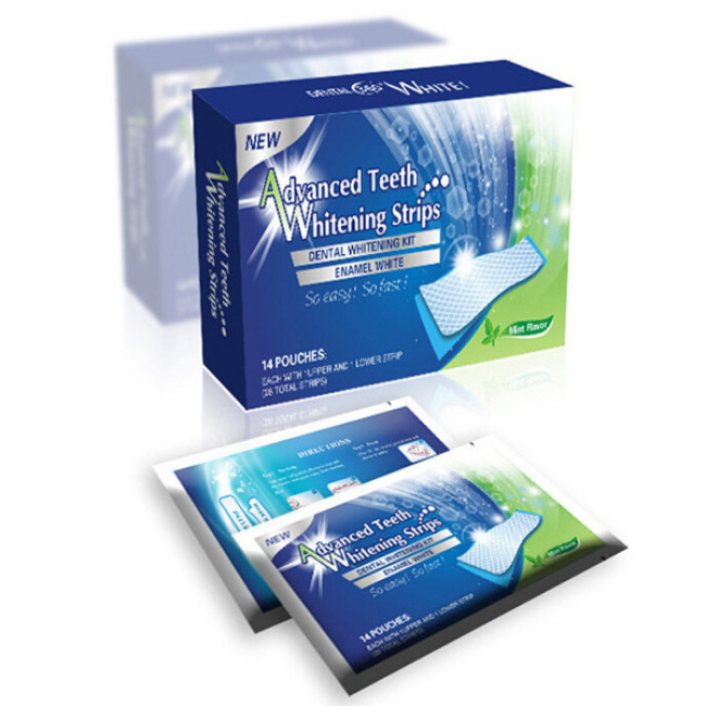 28pcs Dental Care Mint Flavor Teeth Whitening Strips