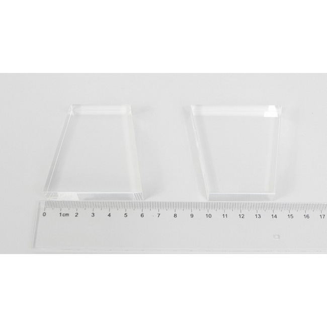Light guide, BK7, trapezium, 12mm*40mm*65mm*60mm, without coating