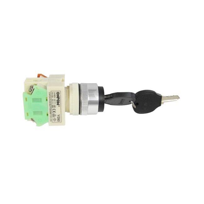 key switch, Onpow, Y090-11Y/21, Φ22mm