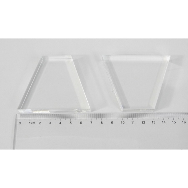 Light guide, BK7, trapezium, 12mm*30mm*57mm*70mm, without coating
