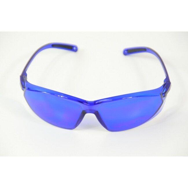 operator's goggles, blue