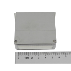 light guide, BK7 + metal plastic cover, trapezium, 15mm*50mm*65mm*57mm H57mm, without coating