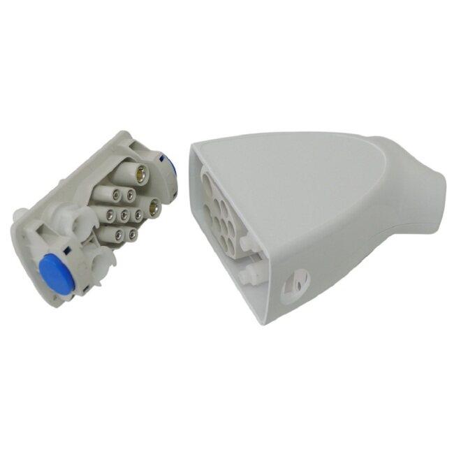 Hand piece connector, Triangular connector model F, 6-7 pins