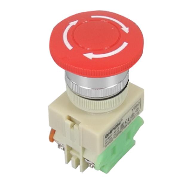 Emergency switch, Onpow, Y090-11TS, Φ22mm