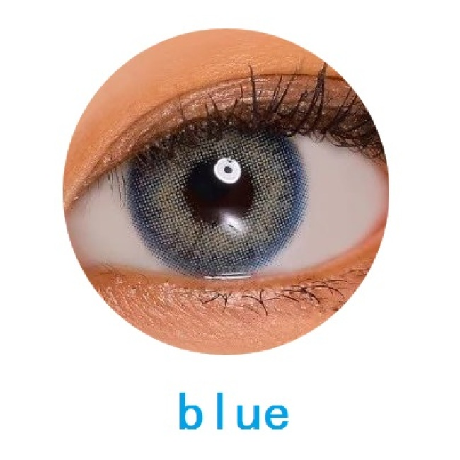 new arrival cyra blue color cat eye  contact lens contact lenses hot selling cosmetic soft lens