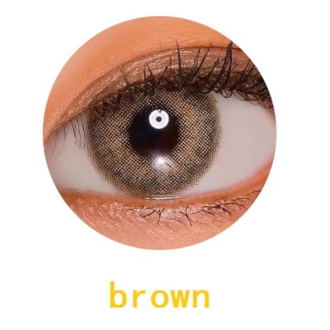new arrival cyra brown color cat eye  contact lens contact lenses hot selling cosmetic soft lens