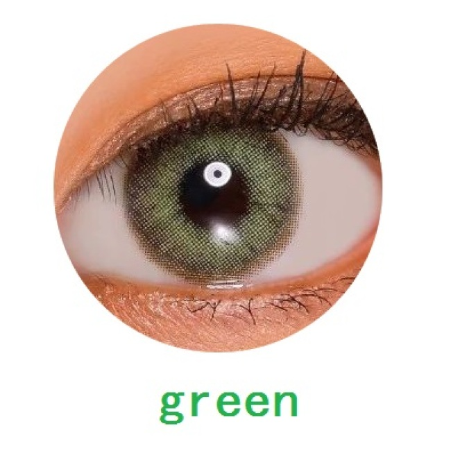 new arrival cyra green color cat eye contact lens contact lenses hot selling cosmetic soft lens