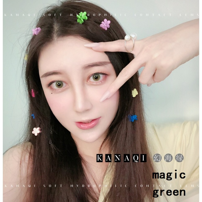 2019 new arrival magic green contact lens contact lenses hot selling cosmetic soft lens